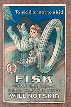 Fisk Will Not Skid Fisk Boy Vintage Advertisement Inspired Metal Sign - $29.95