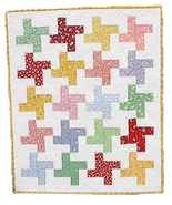 1930s Feedsack Pinwheel Baby Quilt, handmade OO... - $150.00