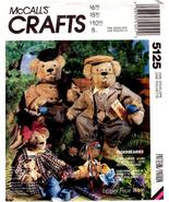 McCall's Crafts 5125 ELDERBEARIES Bears and Clothes Pattern - $6.95