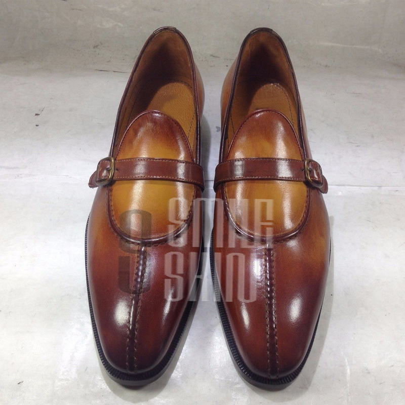 b10ee628cc69 Men Two Tone Tan Brown Loafer Slip On and 50 similar items