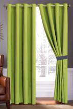 4-Pc Octogram Star Snowflake Fern Leaf Embroidery Curtain Set Green Gray Drape - $35.89
