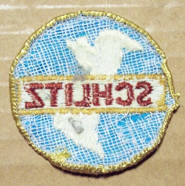 Old  Schlitz Beer North & South America Light Blue Patch