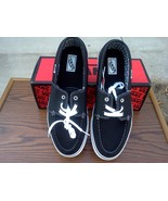 VANS Hull black/white/white Size 12, New, VANS Shoes for Men, Black Vans - $19.99