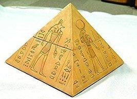 4.25 Inch Egyptian Gods Pyramid Shaped Jewelry/Trinket Box Figurine - £16.81 GBP