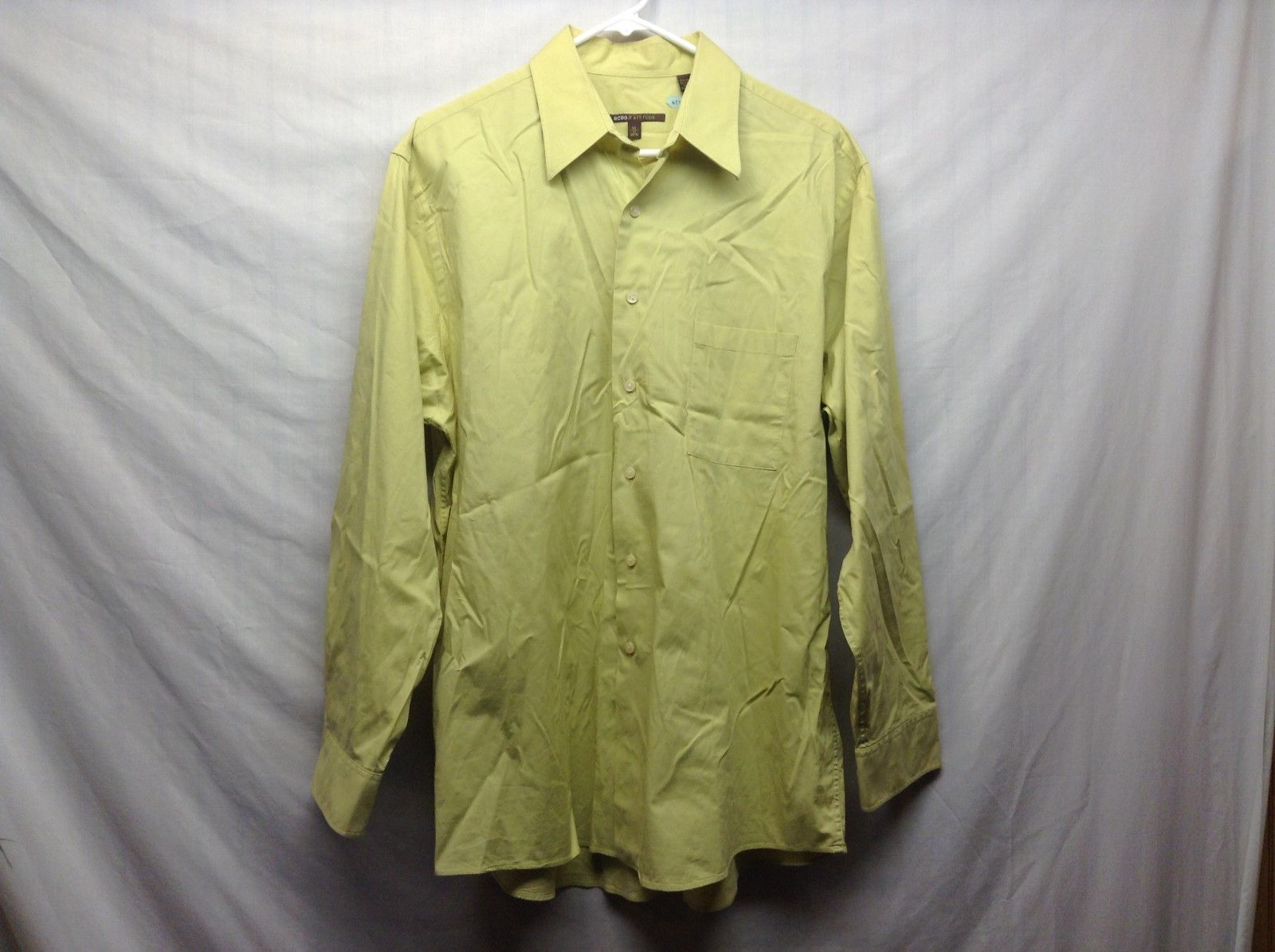Men's Yellow Green Shirt by BCBG Attitude Sz XL