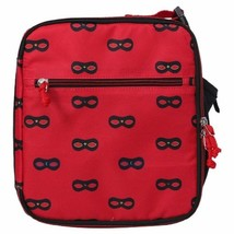 "NEW Cat & Jack 9.5"" Red Black Mini Mask Lunch Bag Insulated Lunchbox image 1"