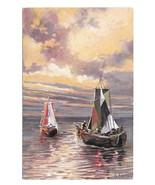 Seascape Nautical Artist Signed G Fuhrmann Sailboats Sailing Ships ASM P... - $6.69