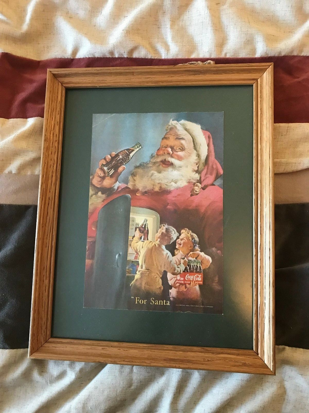 Primary image for Vintage 1960s Coca Cola Magazine Ad Page framed 10X7