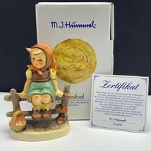 Goebel MJ Hummel club figurine germany box coa 899 just resting girl fen... - $63.36