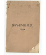 Town Warner New Hampshire 1899 town report book ephemera antique vintage - $28.00