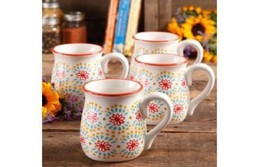 The Pioneer Woman Belly Mugs Flea Market 18oz D... - $31.79