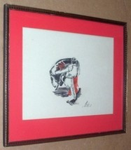 P. BEEKS BULL MATADOR PAINTING T. EATON & CO ART CANADA - $539.99