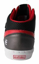 Etnies Kids Boys Black/Red Rap CM Mid Lace-Up Skate Shoes Sneakers 2US 34 NIB image 4