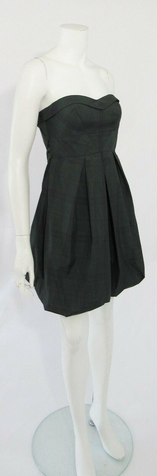 Jessica Simpson Green Plaid Bustier Removable Strap Party Mini Dress Sz 6 NWT