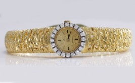 Antique Rare Omega 18K or Jaune Résistant VS1 Diamants Montre Femme 38.3g - $4,126.90