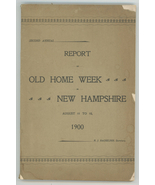 Report Old Home Week New Hampshire 1900 book 2rd annual towns ephemera - $22.00