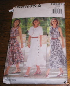 BUTTERICK DRESS PATTERN #6837 SZ 14* COMPLETE