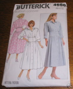 BUTTERICK DRESS PATTERN #4686 SZ 12* COMPLETE