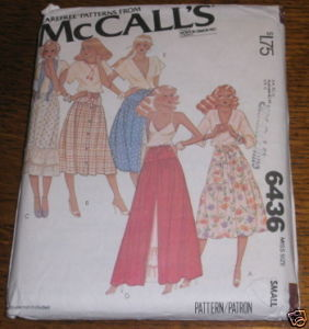 McCALLS SKIRT PATTERN #6436 SZ SMALL (10-12) COMPLETE