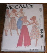 McCALLS SKIRT PATTERN #6436 SZ SMALL (10-12) COMPLETE - $2.99