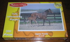 MELISSA & DOUG MARE & FOAL 200 PIECES SEALED