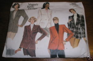VOGUE JACKET PATTERN #2554 SZ 12-14-16* USED COMPLETE