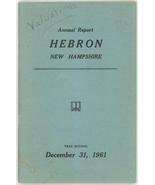 Hebron New Hampshire 1961 town report book vintage ephemera - $9.00