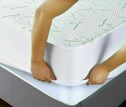 BAMBOO Mattress Protector Waterproof Soft Hypoallergenic Fitted Cover Pa... - $21.55+