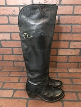 Frye Knee High Boots Black Leather Size 5.5 - $88.77