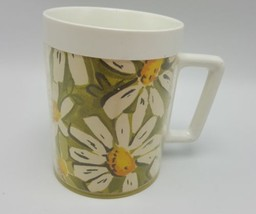 Thermo Serv Daisy Coffee Mug Daisies Plastic Picnic Cup Insulated USA We... - $9.99