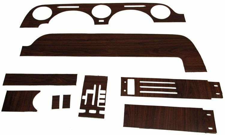 Primary image for 1968 FORD MUSTANG w/o-A/C DASHBOARD & INSTRUMENT CLUSTER WOODGRAIN KIT, 9 PIECES