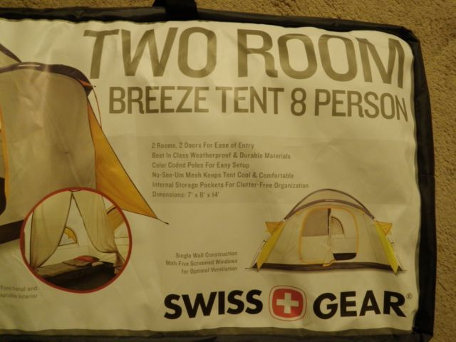 New Swiss Gear Two Room Breeze 8 Person and 50 similar items. 58 & New Swiss Gear Two Room Breeze 8 Person and 50 similar items
