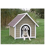 Natural Pitched Roof Dog House NEW, Dog Kennel,, Dog Crates,Dog Accessories - $199.99