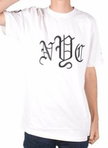 40 Oz Forty Ounce NYC Mens White Black Embroidered Old English New York T-Shirt