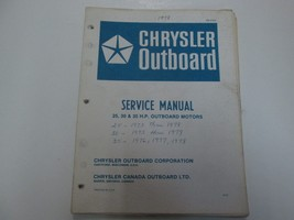 1978 Chrysler Outboard 25 30 35 H.P Service Manual OB2724 WRITING STAINS... - $23.75