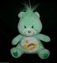 "8"" CARE BEARS WISH BEAR GREEN SHOOTING STAR NANCO STUFFED ANIMAL PLUSH T... - $10.76"
