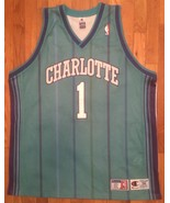Authentic Champion 2001 Charlotte Hornets Baron Davis Teal Road Away Jer... - $309.99