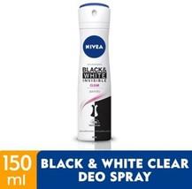 NIVEA Deodorant Black & White Spray 150ml -48 hours anti-perspirant prot... - $19.79