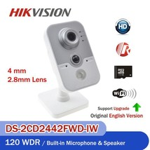 Hikvision DS-2CD2442FWD-IW 4MP POE Wifi 1080P WDR IP Camera built-in SD ... - $88.55