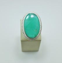 Natural Chrysoprase 925 Silver Ring - $95.00