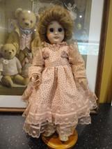 "Antique Vintage All Porcelain Doll 14"" No Mark Large Blue Glass Eyes Tee... - $67.54"