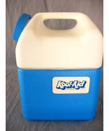 Kool Aid Cooler Drink Holder Lunch box Ice Chest Blue White  - $25.73