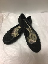 Born Brand Women's Black Leather Slip On flats . Size 7M. **EUC** - $17.81