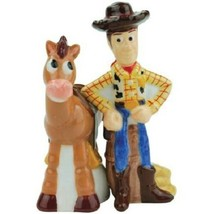 Disney's Toy Story Woody and Bullseye Ceramic Salt and Pepper Shakers Se... - $33.85