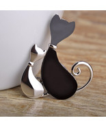 Variation #1 of Blucome Kawaii Couple Cat Brooches For Women Man Kids Rh... - $18.72
