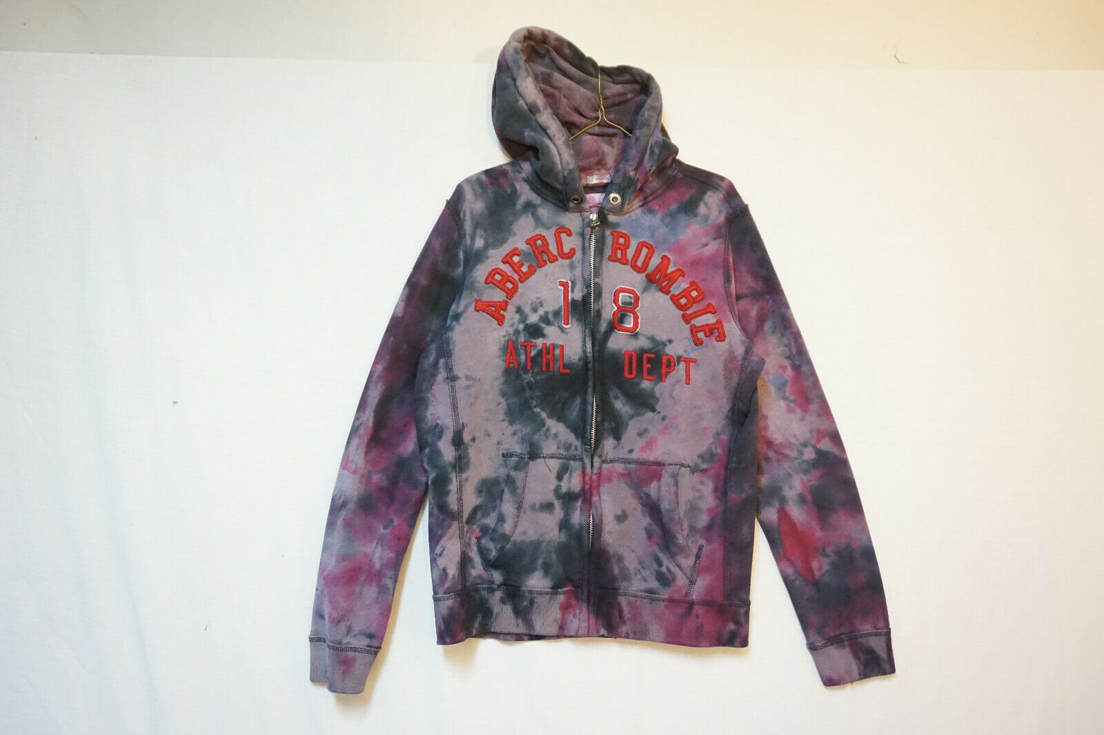 Primary image for Abercrombie Midweight Hoodie Sweatshirt, Tie-Dye, Men's Small Muscle Fit B593