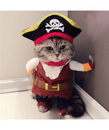 Holapet® Cat Costume Pirate Suit Clothes Corsair Halloween Puppy Suit - ₹530.10 INR+
