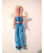 Glamour Gals Doll Shara Baby Blue Jumpsuit CPG 1981 Hong Kong Rooted Hai... - $14.22