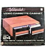 Videostak Video Cassette Cabinet 24 VHS/Beta Cassette Tapes VS-412  NOS ... - $48.50