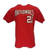 Washington Nationals #21 Esteban Loaiza MLB Majestic Red Jersey T Shirt,... - $12.95